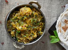 Cabbage with potatoes and green peas | The Gastronomic BONG