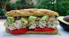 Low carb chicken salad sandwich
