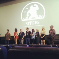 """2nd short film program @ Sitges Film Festival 2012. With Manfre & Iker Iturria from """"Human Core"""""""
