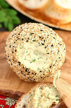 This recipe for Sharp Vegan Nut Cheese satisfies your cheesy cravings with its tangy and nutty flavor. It can even be formed into logs or balls! Leave out the Miso Vegan Cheese Recipes, Vegan Foods, Vegan Snacks, Vegan Dishes, Raw Food Recipes, Vegetarian Recipes, Cooking Recipes, Vegan Lunches, Vegan Cheese Ball Recipe