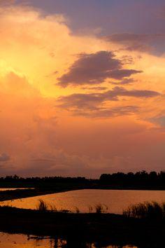 North Dakota Lake Sunset