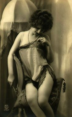 Lovely Lace! 1920s erotic postcard