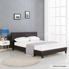 Beds and Bed Frames 175758: Twin Full Queen King Linen Platform Bed Frames With Wood Slats Andheadboard K7u5 -> BUY IT NOW ONLY: $194.49 on eBay!