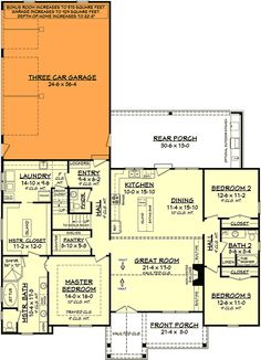 Plan House plan for a craftsman with bedroom layout in Split . - Plan House plan for a craftsman with bedroom division in Split – Plan House pla - Villa Design, Home Design, Design Design, Design Trends, Graphic Design, The Plan, How To Plan, Plan Plan, Young House Love