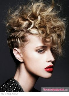 mohawk updo- could do this with bob/faux short hair