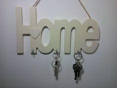 Wooden Key Holder / Hook Home Key Rack Shabby Chic Key Hanger
