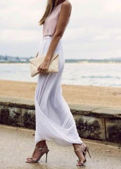 Summer Fashion 2014. Chic with neutrals! This skirt is beyond gorgeous!! ::M::