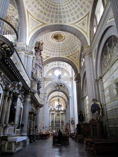 Interior, Puebla Cathedral, Puebla, Mexico