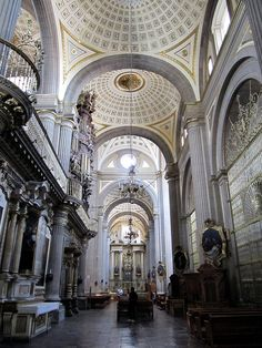 Interior, Puebla Cathedral, Puebla, Mexico