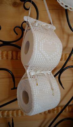 Crochet paper toilet holder by ZoZulkaart on Etsy