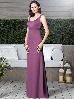 Radiant Orchid long bridesmaid dress by Dessy Style 2901 #radiantorchid
