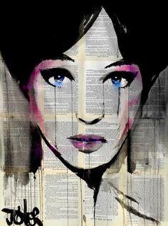 "Saatchi Art Artist Loui Jover; Drawing, ""misty"" #art"