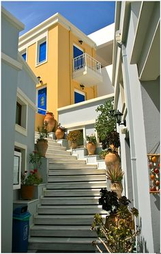 Crete, Greece (That yellow is EXACTLY the color I want to paint our front door!)