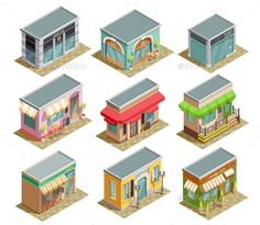 Coffee House Isometric Set