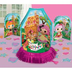 Ever So Popular Lalaloopsy Table Decorating Kit. Elegent range of Lalaloopsy Decoration Kits for Birthday at PartyBell. Kids Party Tables, Birthday Party Tables, Birthday Banners, Birthday Invitations, Birthday Ideas, Birthday Plate, Farm Birthday, Hungry Caterpillar Party, Construction Birthday Parties