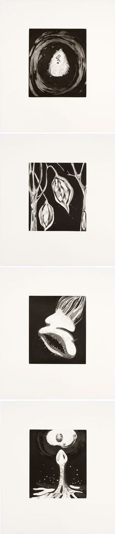 Janaina Tschäpe | Bedtime Stories | 2011 | Suite of four line etchings with spitbite aquatint