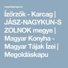 Ízőrzők - Karcag | JÁSZ-NAGYKUN-SZOLNOK megye | Magyar Konyha - Magyar Tájak Ízei | Megoldáskapu
