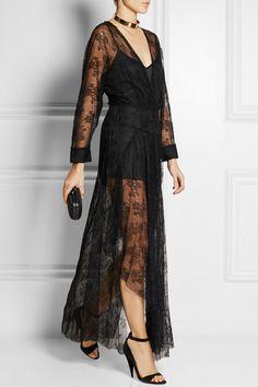 Black lace Slips on 100% nylon; slip: 100% polyester Dry clean