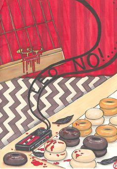 Twin Peaks Waldo postcard PRINT