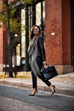 mia mia mine wearing a leather jacket and black christian louboutin heels