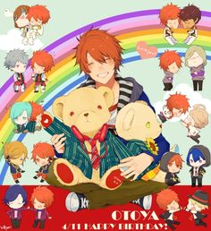UtaPri ~~ Here's another piece of artwork that makes me wish this was a YAOI game instead of an OTOME one. Putting Otoya in the middle makes sense to me. ♥