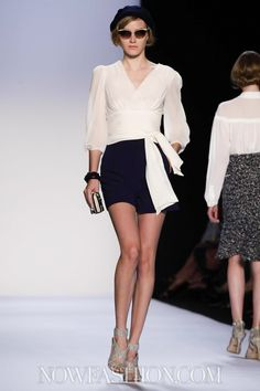 Badgley Mischka RTW S/S 2014. I *love* this whole look and will be keeping it in mind when dressing for the summer!