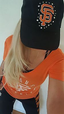 d208cd00840 Victoria s Secret Pink San Francisco Giants Baseball Bling Hat Cap Logo S F  in Clothing