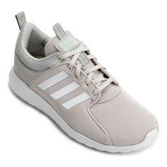 Ótimo preço na  Netshoes Tênis Adidas Cf Lite Racer W Feminino – Off White  Por 332b4cc242e0a