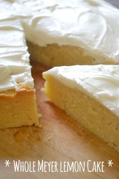 Flourless Meyer Lemon Cake !