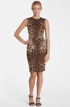 Brown Leopard Sheath Dress by Dolce&gabbana. Buy for $1,575 from Nordstrom