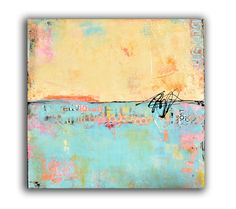 Abstract mixedmedia Painting 30x30 Painting on por erinashleyart
