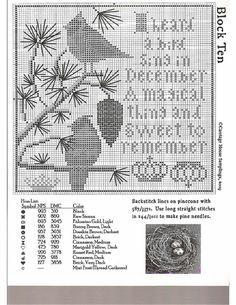 Winter at Hawk Run Hollow Cross Stitch Needles, Cross Stitch Bird, Cross Stitch Samplers, Cross Stitch Animals, Cross Stitch Flowers, Counted Cross Stitch Patterns, Cross Stitch Charts, Cross Stitch Designs, Cross Stitching