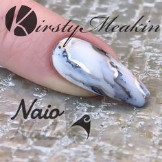 Sharpie marble madness. Have you checked out our latest tutorial? https://youtu.be/Ecj5wqPuCK4 #kirstymeakin #nails #nailart #sharpieart #sharpienailart #sharpienails #marblenails #naionails