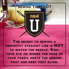 Another #MoodSewingTip sewing a straight line...