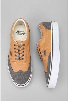 Vans California Leather and Wool Era Wingtip Sneaker