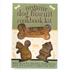 Large Organic Dog Biscuit Cookbook Kit with Cookie Cutters Paperback Treat Gift Puppy Party Supplies, Dog Supplies, Designer Dog Beds, Dog Biscuits, Dog Chews, Pet Clothes, Pet Accessories, Dog Care, Cookie Cutters