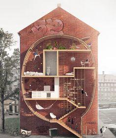Live Between Buildings: Narrow Micro-Homes Fill City Gaps