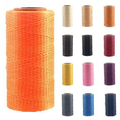 1 Roll of Thread Cord 260M x 1MM 150D Leather Waxed Thread Cord for DIY Handicraft Tool Hand Stitching Threads