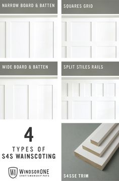 Wainscoting Styles with Trim BoardsIn sizes from to a variety of sizes to complete various wainscoting and wall paneling looks.Millhaven Homes: Parade Home TourNew wall treatment called reverse shiplap using either a Wainscoting Styles, Wainscoting Bedroom, Bathroom Wainscotting, Baseboard Styles, Trim Board, Wall Trim, Trim For Walls, Moldings And Trim, Moulding