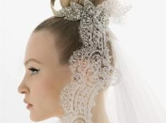 Actual lace incorporated into your up do