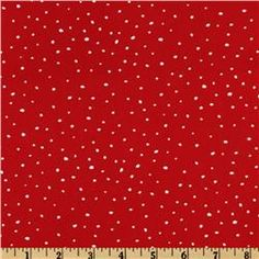 Christmas Time Peanuts Dotted Red