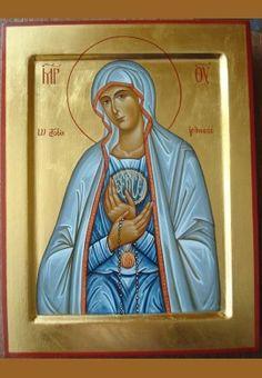 Matka Boska Fatimska ikona Tempera, Our Lady, Princess Zelda, Baseball Cards, Saints, Fictional Characters, Art, Virgin Mary, Art Background