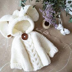 Sold snow-white long-eared miracle for .- Продан Белоснежное длинноухое чудо для пол… Sold a snow-white long-eared miracle for half a year - Diy Crafts Knitting, Knitting For Kids, Crochet For Kids, Knitting Wool, Crochet Toys, Free Crochet, Baby Bunny Costume, Diy Crafts Dress, Newborn Crochet Patterns