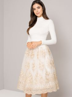 6cf404b29143 Enhance your elegance with the Coralie skirt! it comes in sizes 6-16 Looks