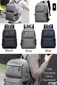 6fd02eb8a14c Techies love our USB Charging Urban Backpack. Carry everything you need in  style and with. Stylish Backpacks For MenUsbEverything