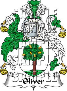 Oliver Family Crest apparel, Oliver Coat of Arms gifts