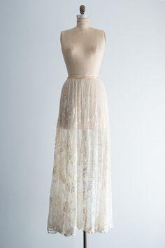 White Edwardian Tambour Skirt - XS/S