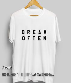 Quote T Shirts Dream Often Unisex Premium Shirt //Price: $13.50 //     #workout