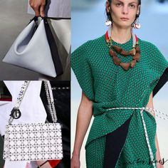 Our favorite #accessories for #spring --> #structured #bags #chunkyjewels #fashion #fashiontrends #runway #style #springfashion