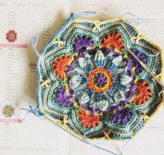 Make the Eastern Jewels Crochet Blanket with Julia Crochet Blanket Patterns, Crochet Ideas, Motif Mandala Crochet, Minerva Crafts, Haberdashery, Persian, Crocheting, Blankets, Jewels